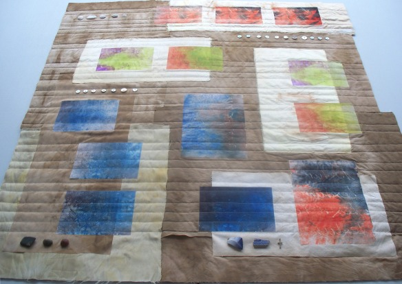timelines 2, quilting in probress - rita summers