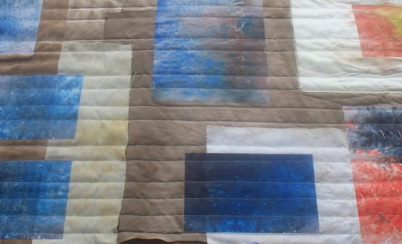 timelines 2b, quilting in progress - rita summers 2013