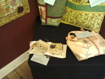break o' day stitchers exhibition - my 'hidden treasures' entry, lower left