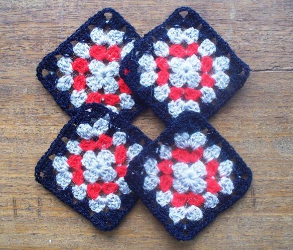 coasters 1b - black,grey,red - rita summers 2013