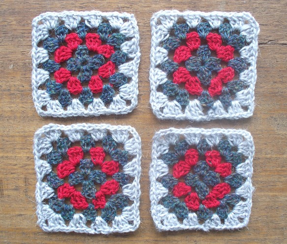 coasters 2a - silver,grey,red - rita summers 2013