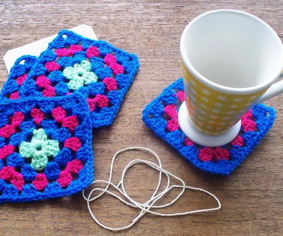 coasters 4c - aqua, pink, jade - rita summers 2013