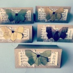 origami butterfly collage cards - rita summers 2013